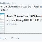 """WikiLeaks : Sonic """"Attacks"""" on US Diplomats in Cuba"""