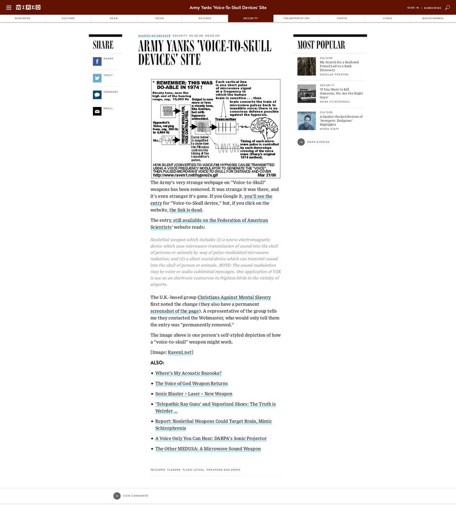 Les armes V2K, manipulation des êtres humains
